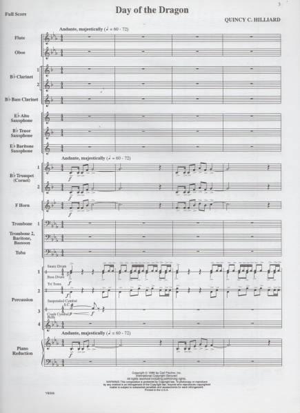 吹奏楽楽譜/Q.ヒリアード:デイ オブ ザ ドラゴン/CD付/試聴/絶版_画像2