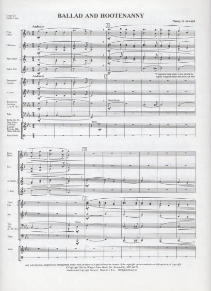 吹奏楽楽譜/スワード:バラードとフーテナニー/G2.5/CD付/試聴可_画像2