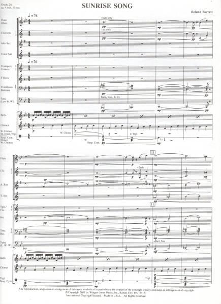 吹奏楽楽譜/R.バレット:サンライズ・ソング/CD付/試聴可_画像2