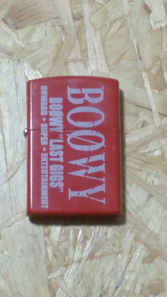 ★BOOWY LAST GIGS ZIPPO ★中古品