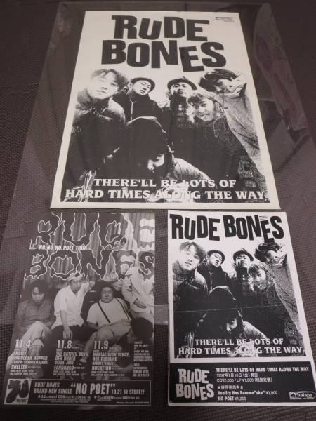 RUDE BONES 当時 レア ポスター/KEMURI brahman HUSKING BEE POTSHOT scafull king ska punk スカパンク
