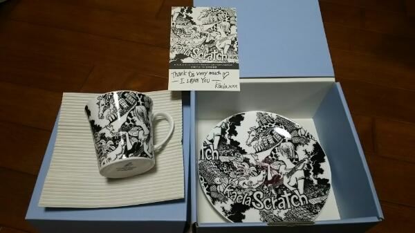 木村カエラ スクラッチツアー 武道館グッズ カップ&プレート 限定 未使用品 マグカップ ライブグッズの画像