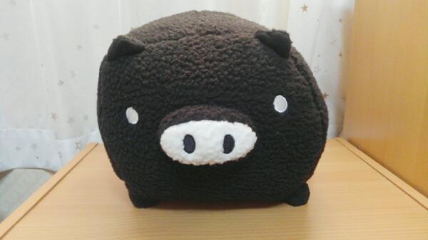 新品・非売品☆モノクロブー シープボア ぬいぐるみ BIG♪(くろ) グッズの画像