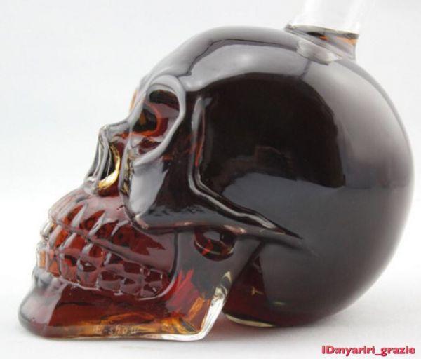 ドクロ クリスタル スカル ヘッド ボトル ウイスキー デカンタ 髑髏 グラス 送料無料 6_画像3