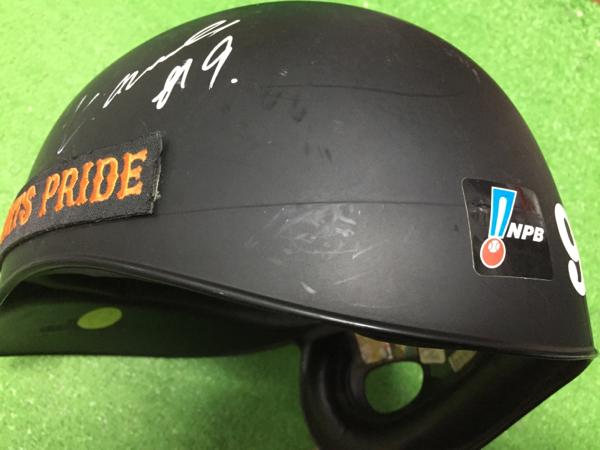巨人軍9 亀井'09実使用 直筆サイン入りヘルメット