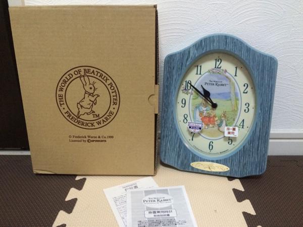 値下げピーターラビット掛け置き兼用時計未使用品レアビンテージ グッズの画像
