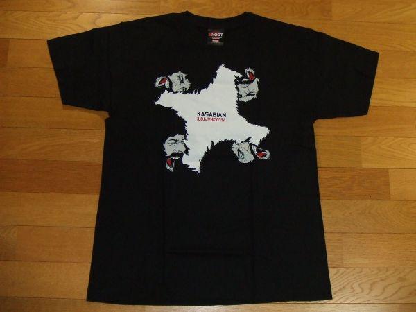 カサビアン KASABIAN Tシャツ SIZE:M VELOCIRAPTOR! 送料180円~