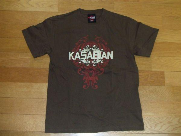 カサビアン KASABIAN SHOOT Tシャツ SIZE:S 送料180円~ 茶