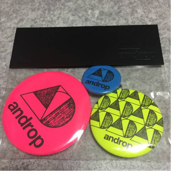 androp 缶バッジ
