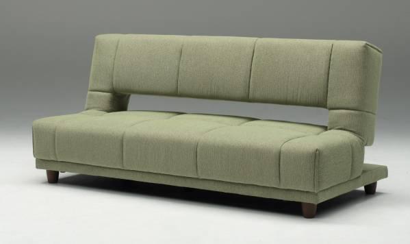 送料無料 布張りの柔らかい肌触りで リクライニング時の凹みを解消した新しいスタイルモデル。全ての贅沢に応えるソファーベッド