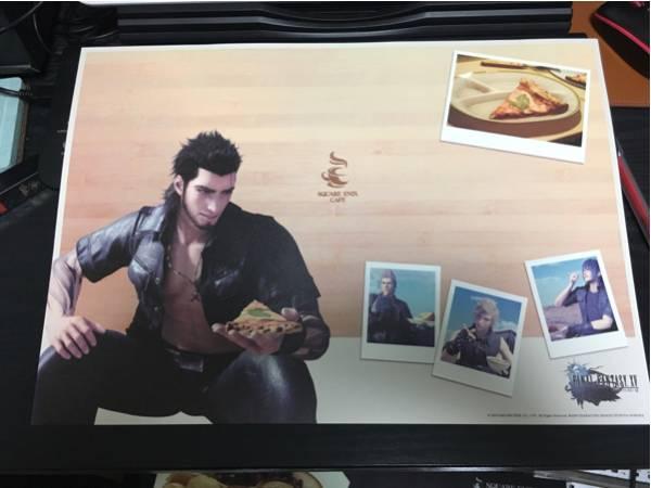 新品 FINAL FANTASY ファイナルファンタジー XV グラディオ ランチョンマット スクエニカフェ SQUARE ENIX CAFE グッズの画像
