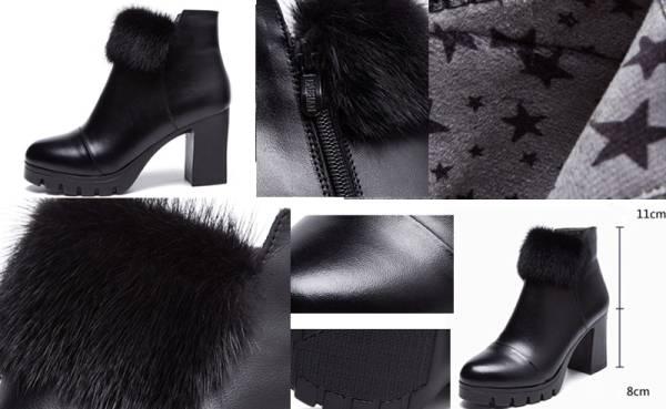 ◆秋冬◆美品◆本革◆ レディース ブーツ★黒_画像3