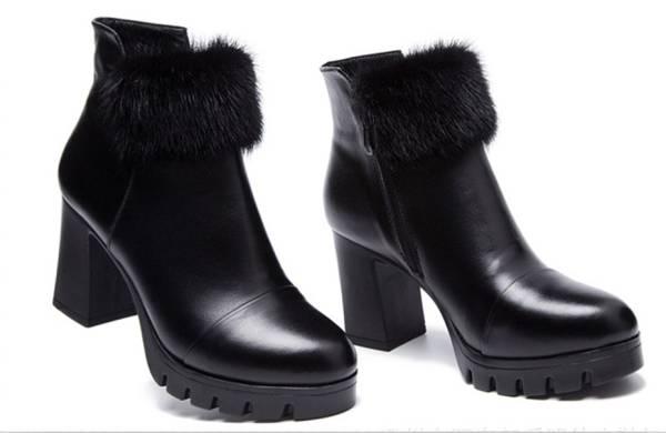 ◆秋冬◆美品◆本革◆ レディース ブーツ★黒_画像2