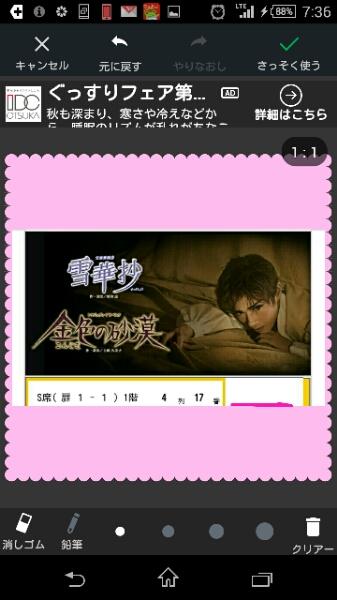 雪華抄東京公演 1階4列 1月11日(水)13:30