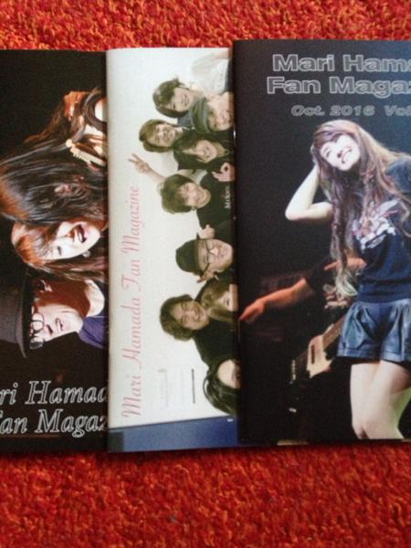 浜田麻里さんFC会報150~154とサマーカード2016とライブチラシ ライブグッズの画像