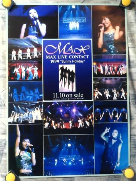 p2【ポスター/B-2】MAX/NANA-MINA-REINA-LINA/'99-LIVE CONTACT