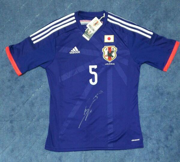 長友佑都 サッカー 日本代表 正規品 ユニフォーム直筆サイン証明