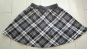 白黒チェック パンツインフレアースカート 140-150