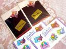 即決★猫★お揃いの切手800円付き★4点セット★グリーティングカード★新品★ネコ★
