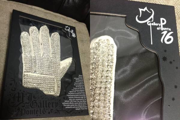 交渉 マイケルジャクソン スワロフスキー グローブ 手袋 ponte16 ライブグッズの画像