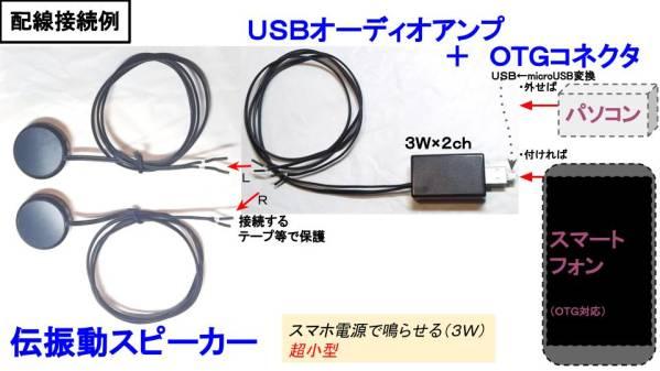 USBオーディオアンプ3W×2ch(スマホから可能)★保証★4鄭11_画像2