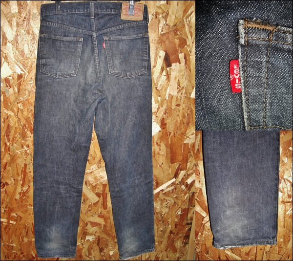 32x33 Levis 503 ブラックデニム スリムジーンズ 80sビンテージ_画像2