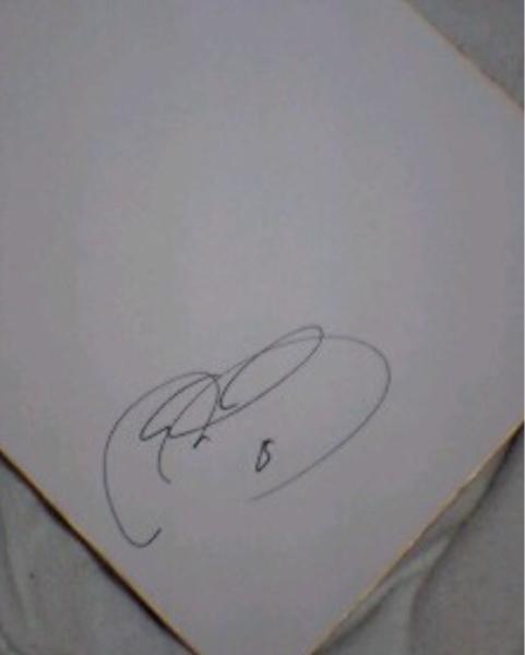 ジュビロ サンフレッチェ駒野友一 選手 直筆サイン色紙