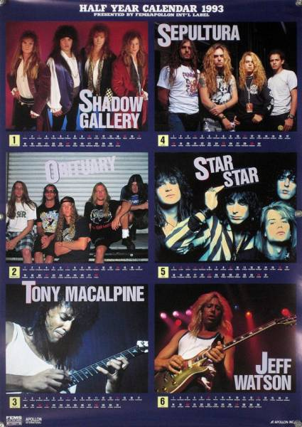 OBITUARY TONY MACALPINE JEFF WATSON B2ポスター (20_06)