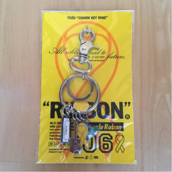 ☆ゆず/2006 RIBBON リボン/チャームキーリング キーホルダー★