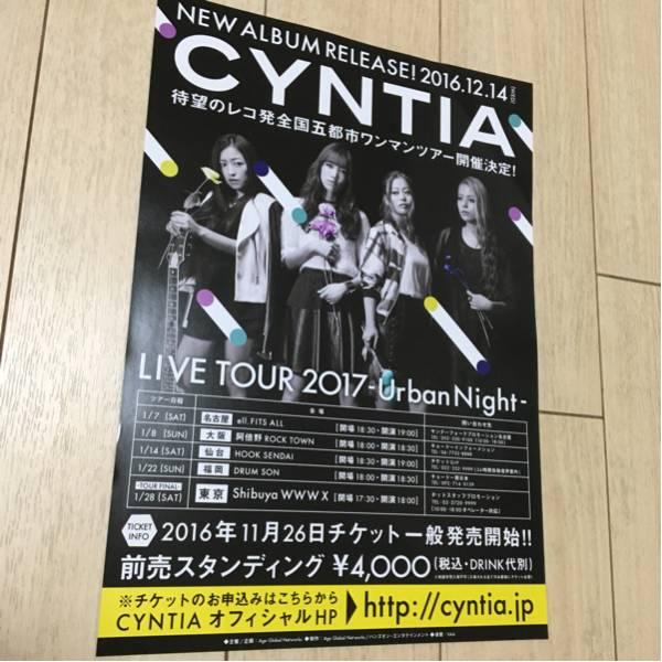シンティア cyntia ライブ 告知 チラシ 2017 urban night