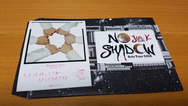 2PM JUNK promiseステッカー&NOWSHADOWメッセージカード