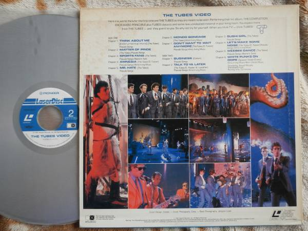 【LD】TUBES/VIDEO(MP059-22EMパイオニア1981年チューブス/スティーヴルカサー/デビッドフォスター)_画像2
