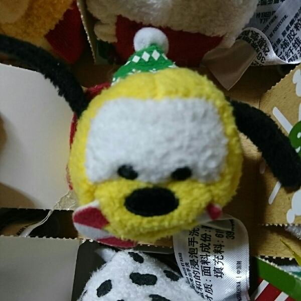 香港ディズニー ツムツム アドベント クリスマス プルート ディズニーグッズの画像