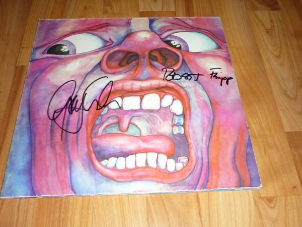 送料込【King Crimson キング・クリムゾン】直筆サイン レコード