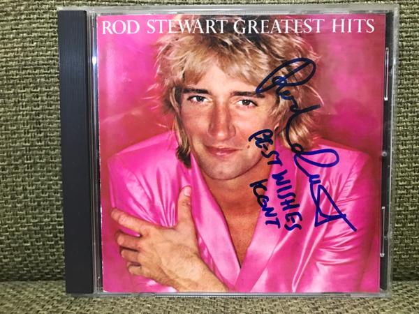 Rod Stewartロッド・スチュワート直筆サイン入CD Greatest Hits