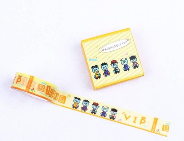 BIGBANG YGベア 可愛い紙テープ4巻