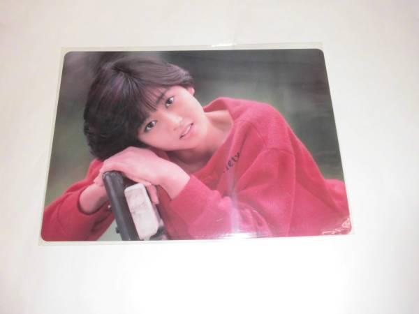 [即決] 浅香唯 B5 下敷き 赤 セーター 当時物 アイドル グッズ