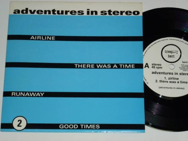 "7"" / ADVENTURES IN STEREO / AIRLINE / RUNAWAY / 1996年盤 / BENT010 / UK盤 / 試聴検査済み_画像1"