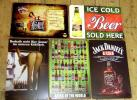 B-6 送料¥178 ブリキ看板 世界のビール セクシーレディ等5枚