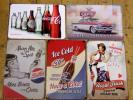 登录 - A-5 送料¥164 ブリキ看板 ペプシコーラ コカコーラ等5枚