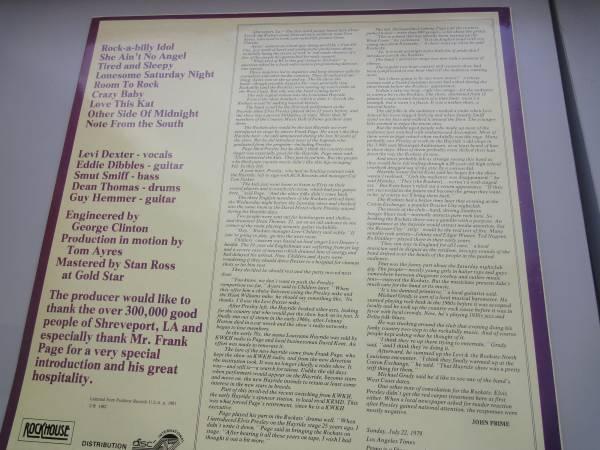 ★ LEVI THE ROCKATS LP オリジナル盤 ネオロカ サイコビリー ロックンロール パンク CLASH ALL sa レア盤 RANCID 666 ロカビリー_1982年制作