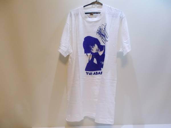 浅香唯 Tシャツ 白地×青字 Mサイズ 未使用
