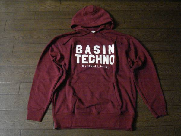 【HK4S/2016/055】◎岡崎体育◎BASIN TECHNO◎PARKA◎エンジ◎XL◎