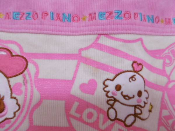 ■ メゾピアノ ■ 可愛いコーデュロイスカート 120cm ピンク_画像2
