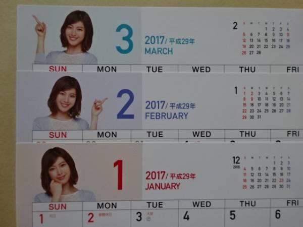 企業贈● イメージキャラクター 瀧本美織 ●2017卓上カレンダー