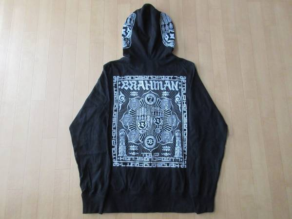 BRAHMAN Tour Hands and Feet 7 薄手 フルジップ パーカー S 黒 ブラック ブラフマン フード カットソー 相克 超克 TOSHI-LOW ツアー