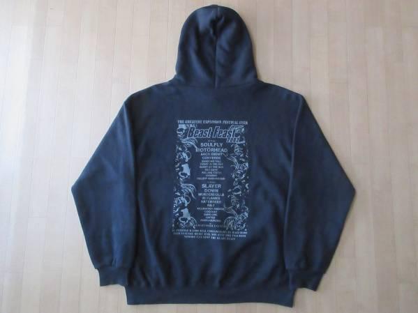 BEAST FEAST 2002 パーカーXL Soulfly Motorhead SLAYER COCOBAT