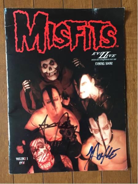 超激レアUSA入手1998年THE MISFITS 直筆サイン入アパレルパンフ
