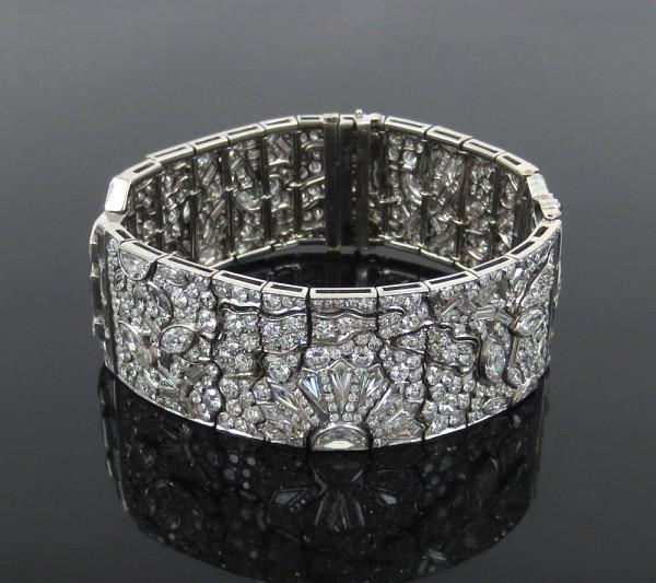 アートデコ《エジプトリバイバル25ctダイヤモンド》ブレスレット_画像1