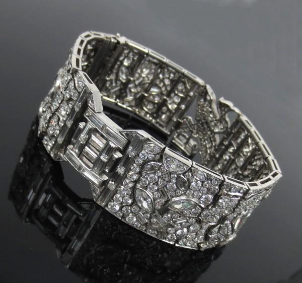 アートデコ《エジプトリバイバル25ctダイヤモンド》ブレスレット_画像2